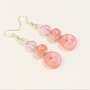 Pretty Cherry Quartz Donut Earrings